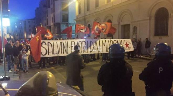 manifestazione anti-salvini