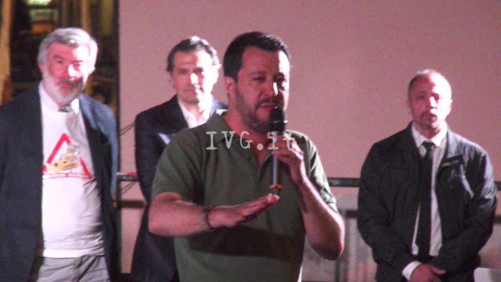 Salvini a Savona: comizio e protesta