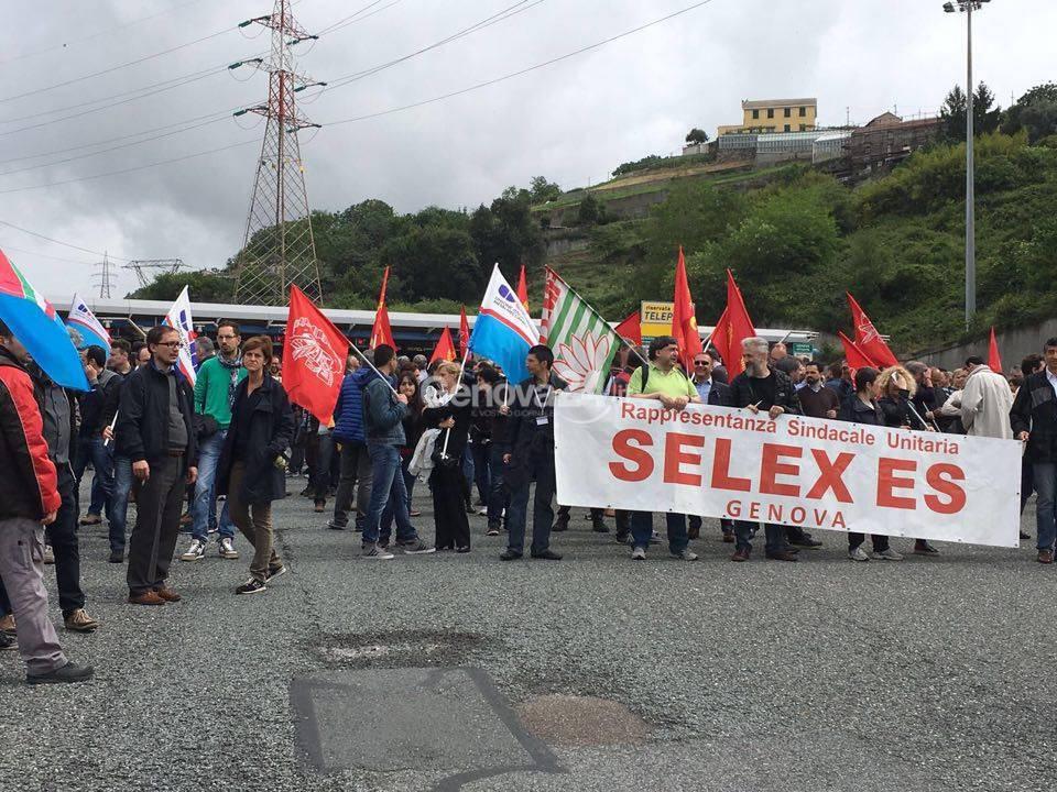 Sciopero dei lavoratori Selex Es