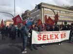Sciopero e corteo dei lavoratori Selex Es