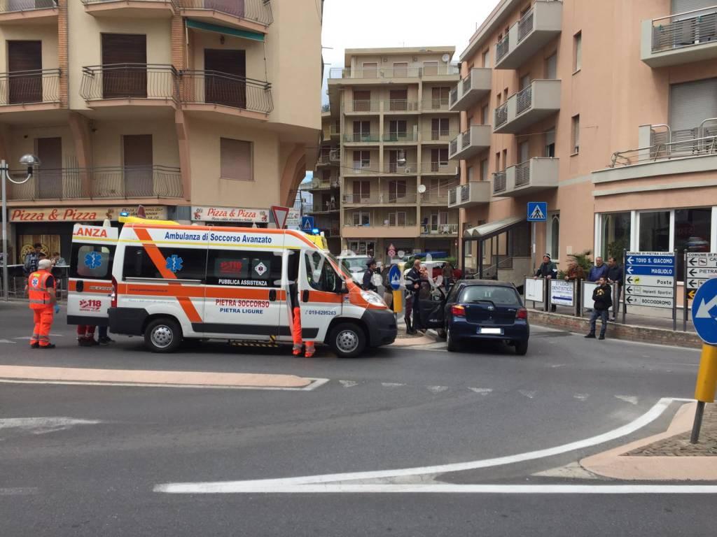 Scontro auto-moto a Pietra Ligure