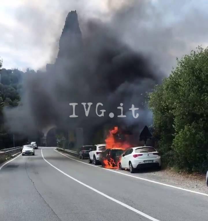 Incendio Auto Varigotti