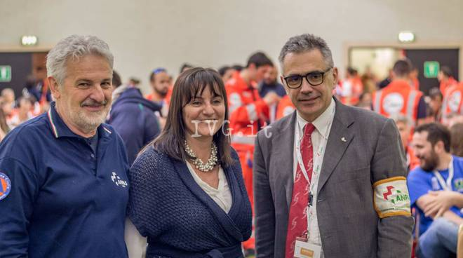 Lorenzo Risso (pres. Anpas Liguria) - Sonia Viale - Fabrizio Pregliasco (Pres Anpas Nazionale)