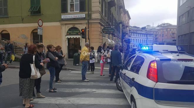 via giotto via borzoli protesta tir