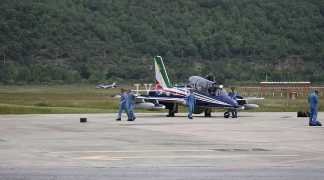 Villanova, l'arrivo delle Frecce Tricolori al Panero