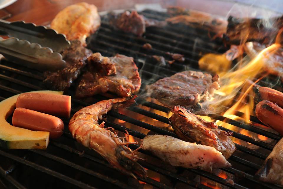 gamberoni, barbecue, griglia