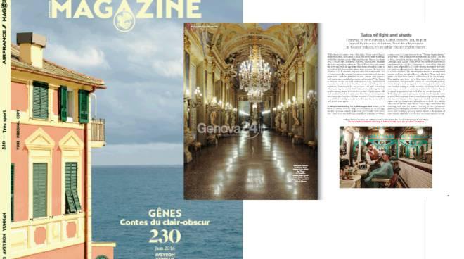 Genova sulla copertina della rivista di Air France