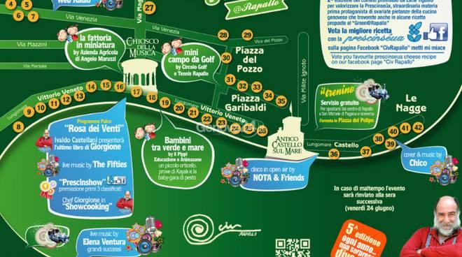 Mappa del Green a Rapallo