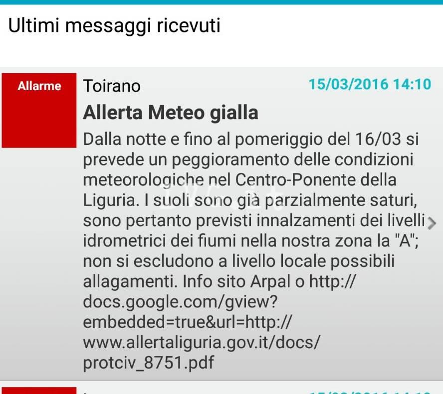 Schermata App ComuniCare