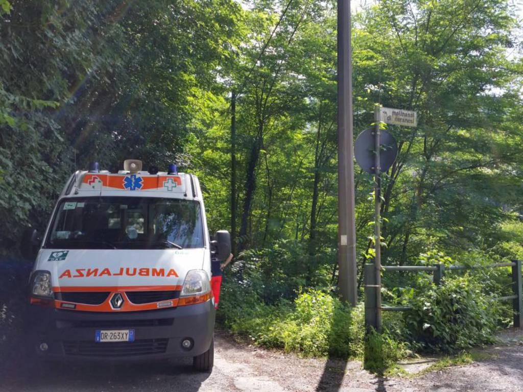 Vigili del fuoco e Croce Bianca di Bolzaneto
