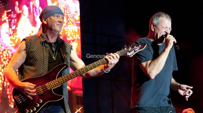 DEEP PURPLE LA LEGENDA DEL ROCK DI SCENA GENOVA
