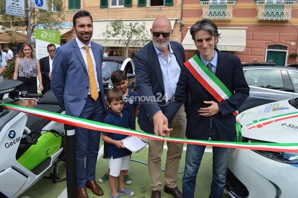 Inaugurazione colonnine elettriche a Santa Margherita