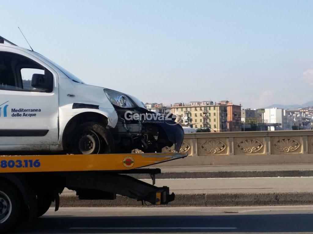 incidente ponte cornigliano