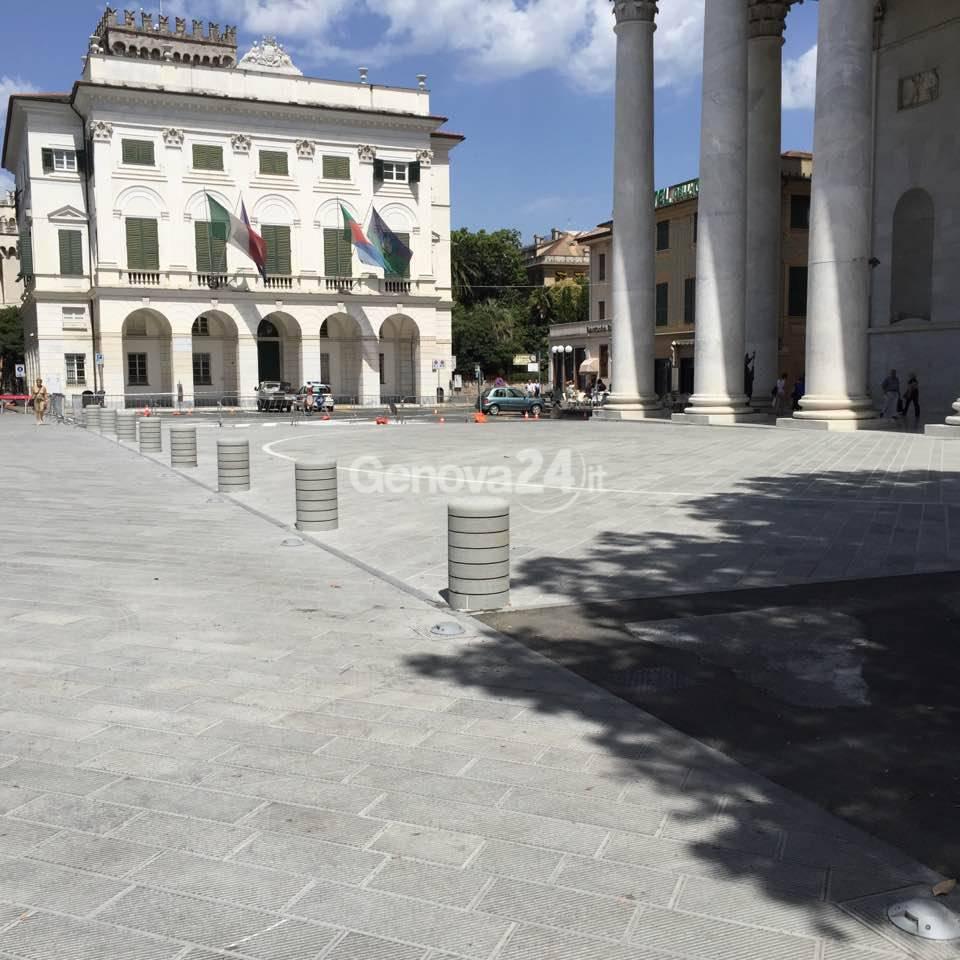 La nuova piazza di N.S. dell'Orto a Chiavari