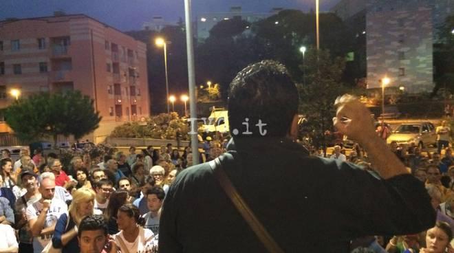 Legino protesta anti migranti