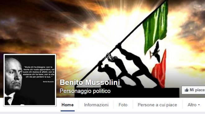 """Pagina Facebook """"Benito Mussolini"""""""