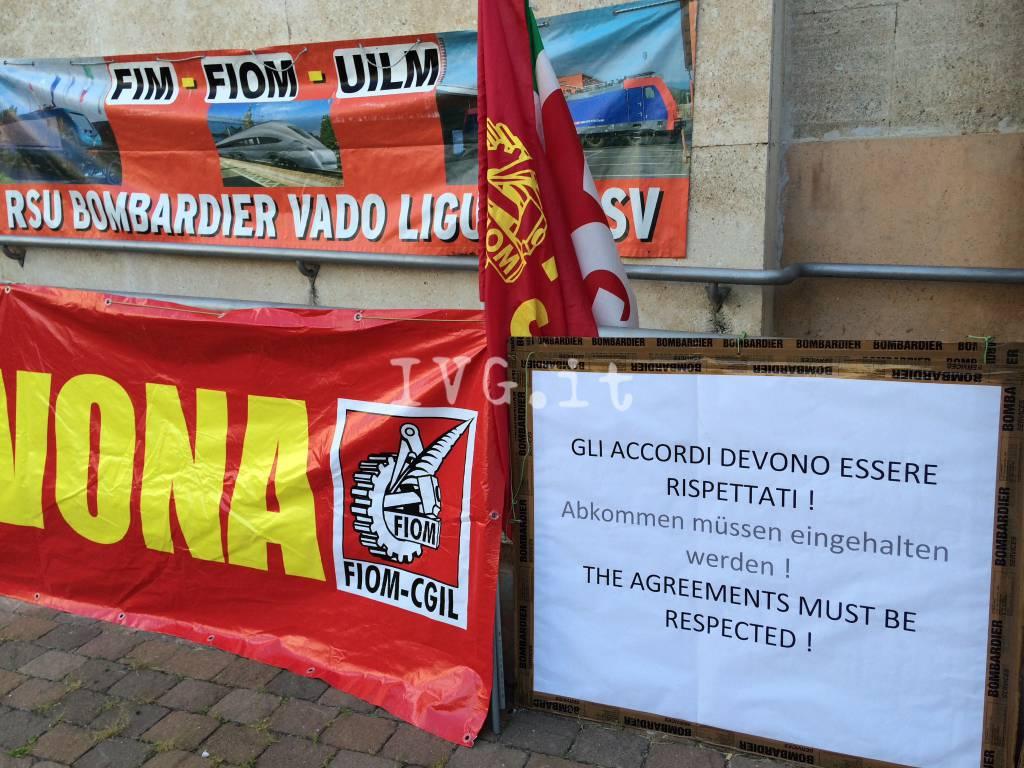 Protesta Bombardier