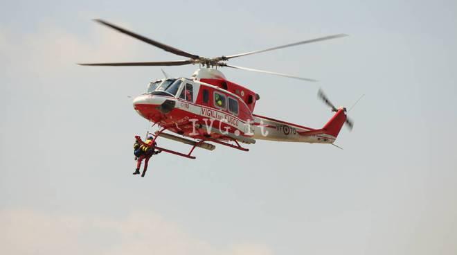 Elicottero Verde : Biker ferito nei boschi di feglino soccorso dall