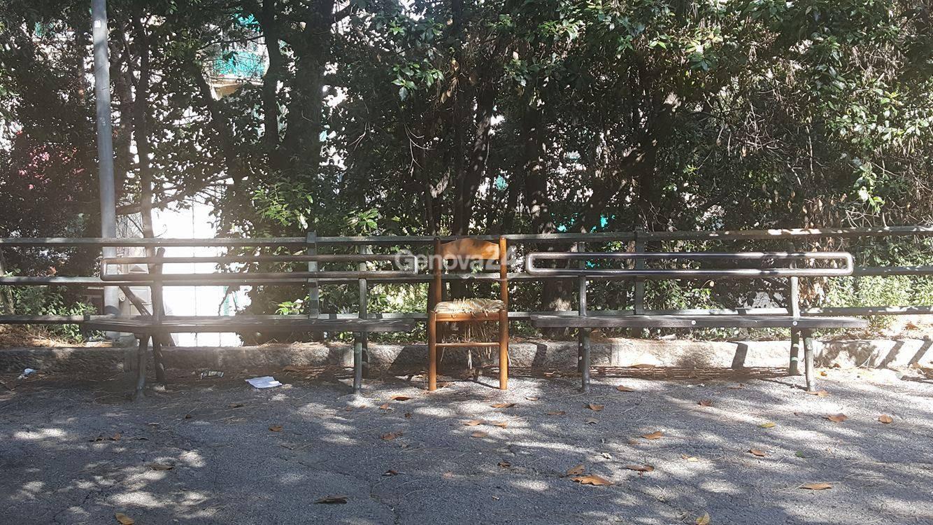 Sedia nei giardini del San Martino