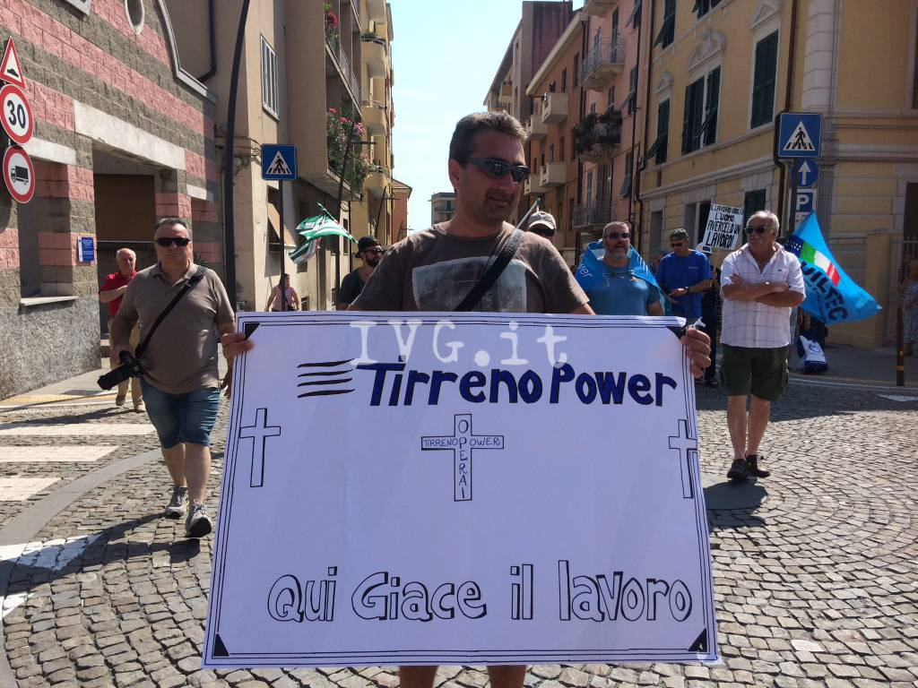 Vado, lo sciopero lavoratori Tirreno Power