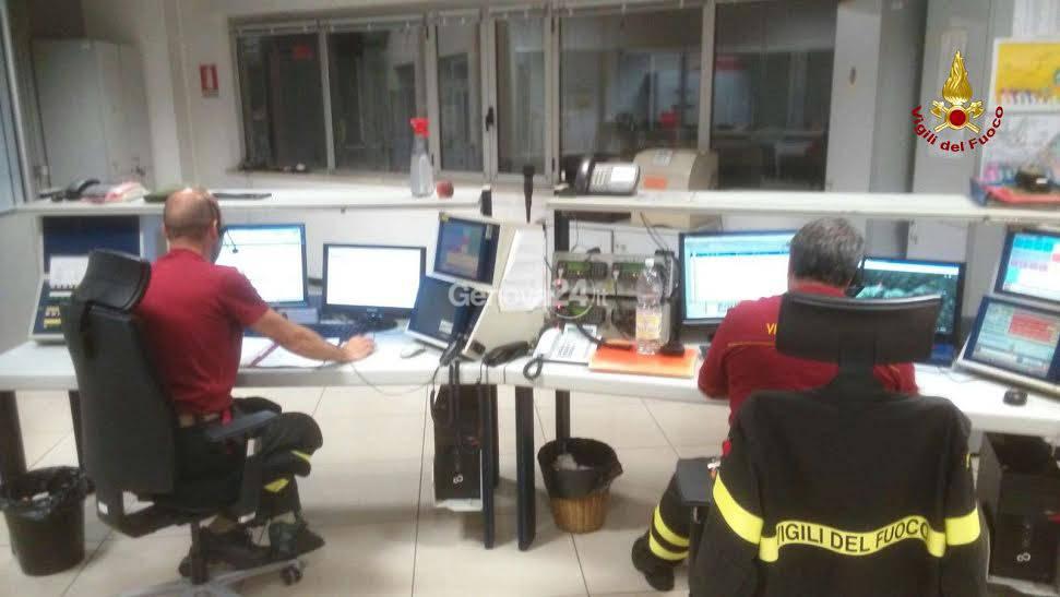 Vigili del fuoco sala operativa