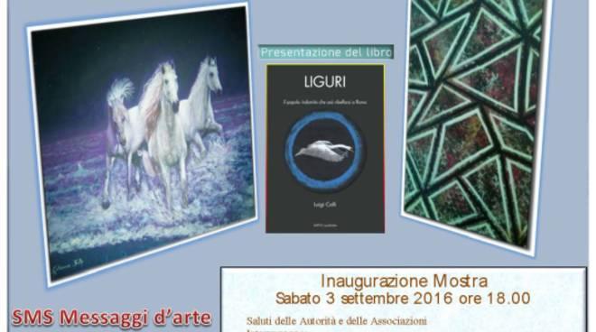 Intellettuali e invitati di prestigio all'inaugurazione della mostra di Demj Canepa e Caterina Galleano.