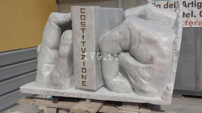 Il nuovo monumento alla Resistenza di Borghetto