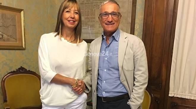 Il sindaco Roberto Levaggi e l'assessore Doris Maggenta