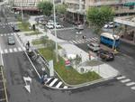 Piazza della stazione di Sestri Levante