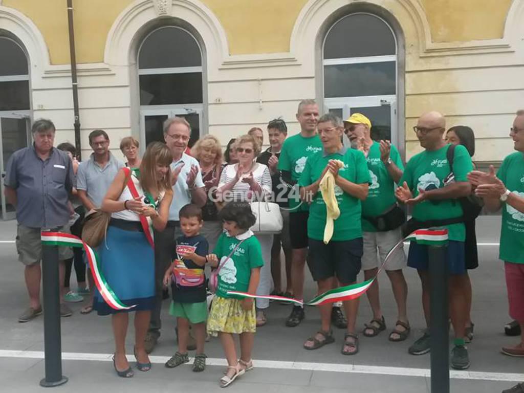 Inaugurazione della nuova piazza della stazione di Sestri Levante