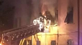 Incendio in via Costacavalli a Savona
