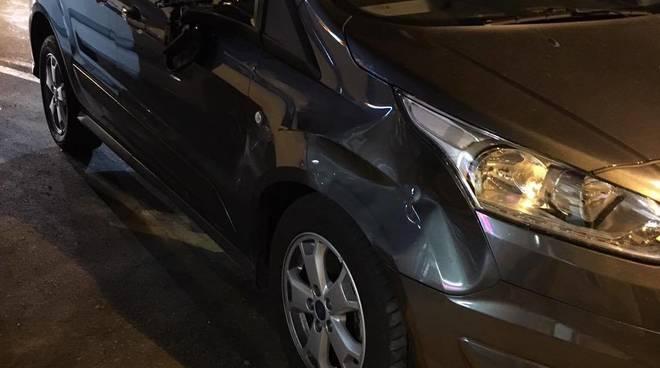 incidente auto investimento notte