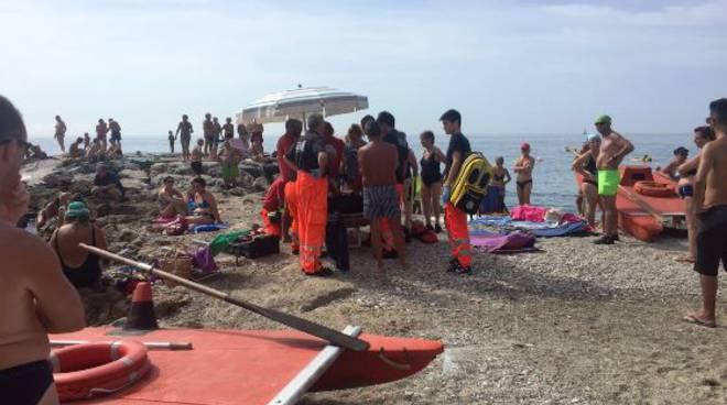 malore spiaggia