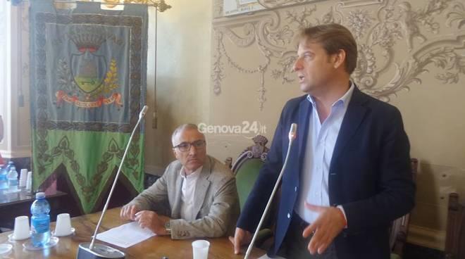 Marco Scajola con il sindaco di Chiavari