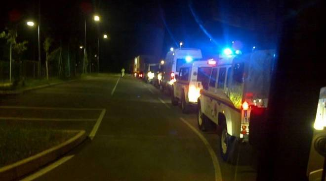 protezione civile notte