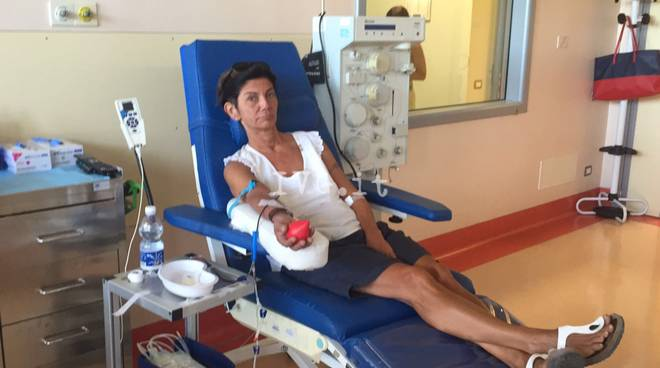 Savonesi e turisti donano il sangue per i terremotati