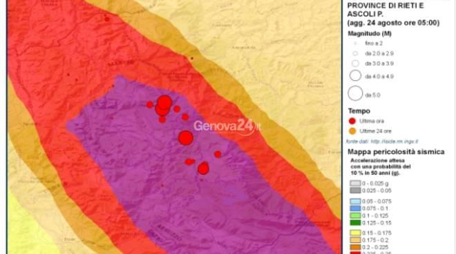 Terremoto in centro Italia, sequenza sismica