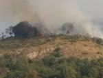 Vasto incendio a Sant'Ilario e Bogliasco