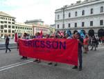 ericsson protesta in centro