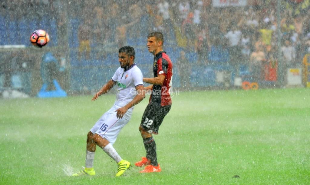 Genoa-Fiorentina Serie A Sospesa per Maltempo