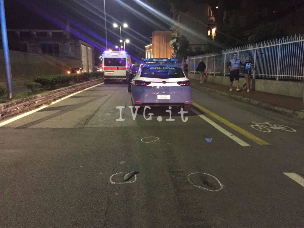 Grave incidente in via Nizza a Savona