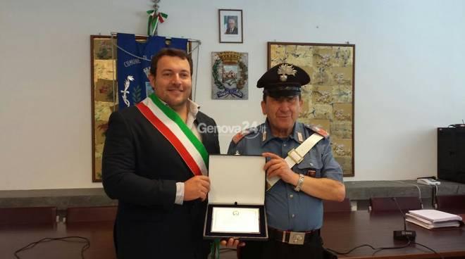 Il sindaco Stagnaro e Luigi Stagnitto