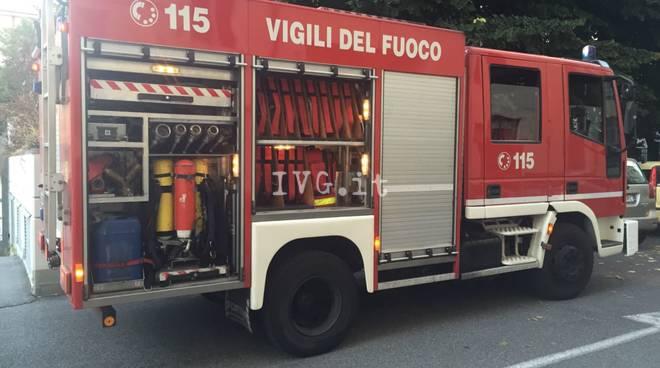 Incendio in via Traversagna a Savona