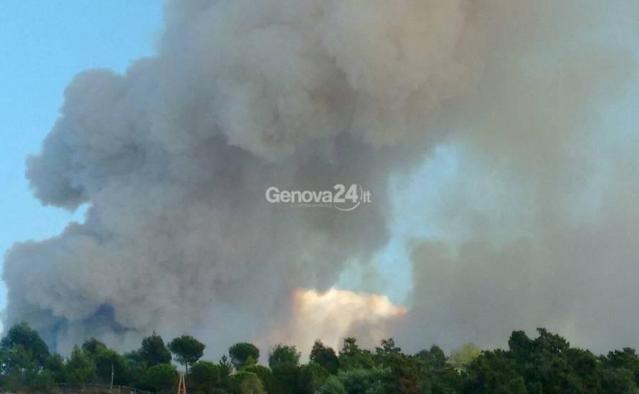 Incendio a Sestri Levante