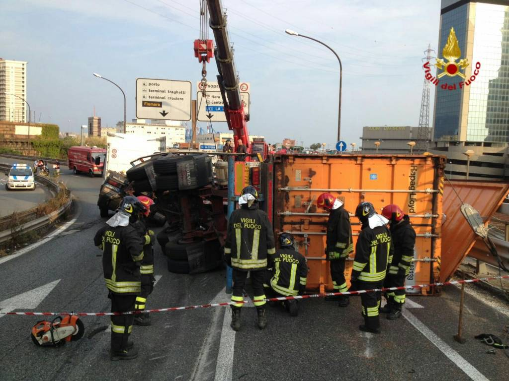 incidente camion elicoidale