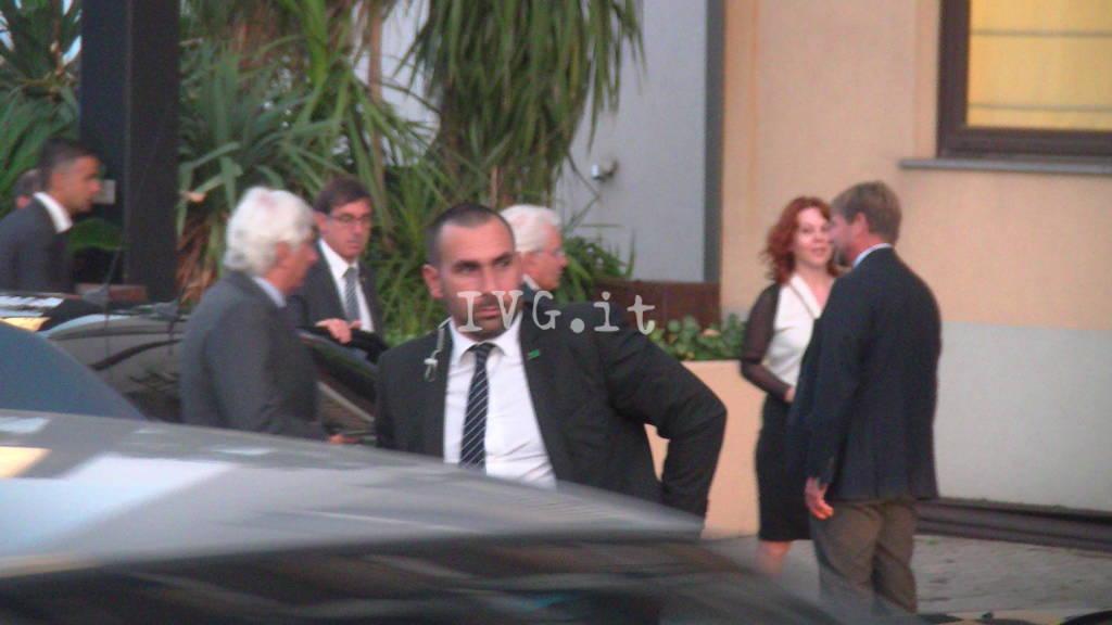 L'arrivo del presidente mattarella