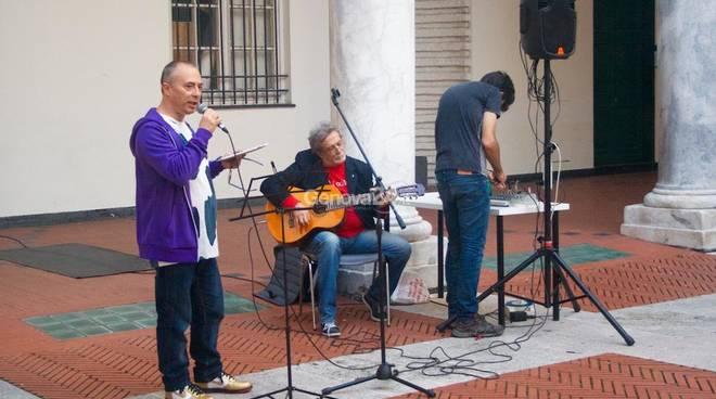 Roberto Malini e Mario Morales Molfino a Palazzo Ducale