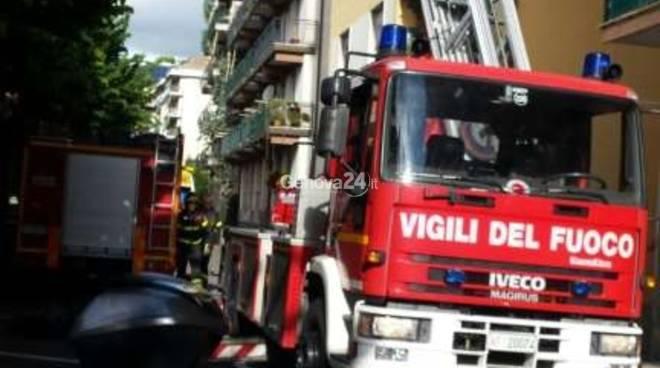 Salvataggio dei vigili del fuoco a Rapallo