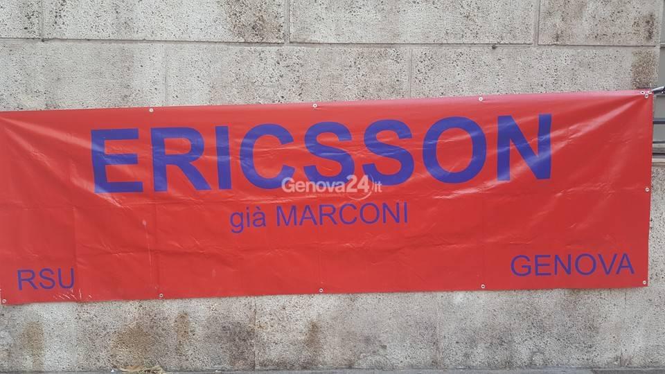 Sciopero e corteo dei lavoratori Ericsson