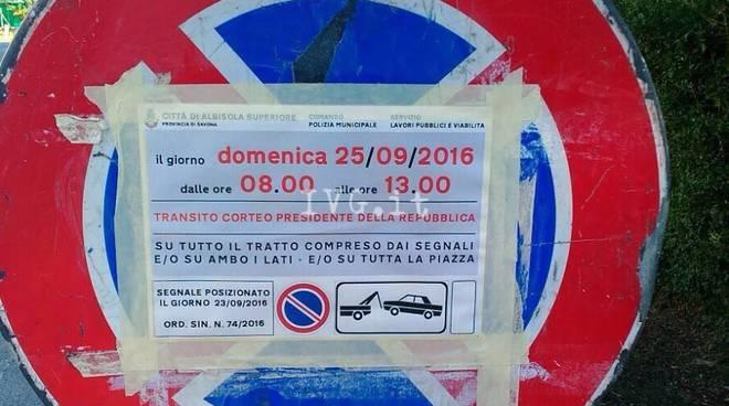 Visita Mattarella Cartelli Stradali Albisola